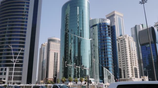 qatar, doha, skyline architecture and living in qatar - qatar stock videos & royalty-free footage