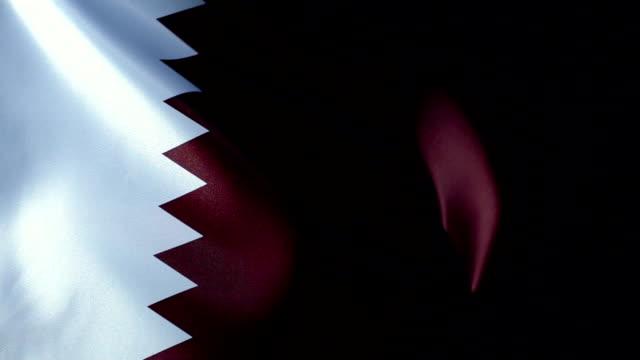 qatar flag flapping - basra stock videos & royalty-free footage