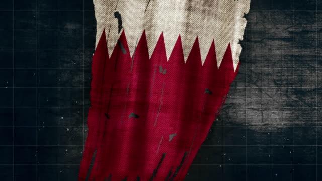 4k qatar grunge flag - qatar stock videos & royalty-free footage