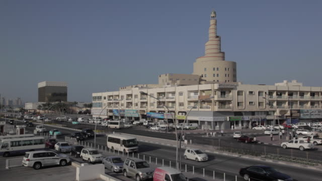 qatar islamic cultural centre, doha, qatar, middle east - capital cities stock videos & royalty-free footage