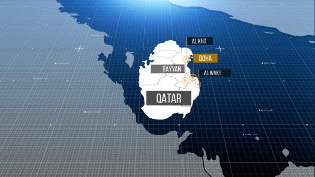 Katar Landkarte mit Etikett dann mit Etikett