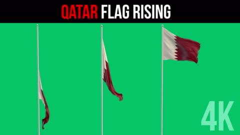 vídeos de stock, filmes e b-roll de bandeira do qatar - qatar