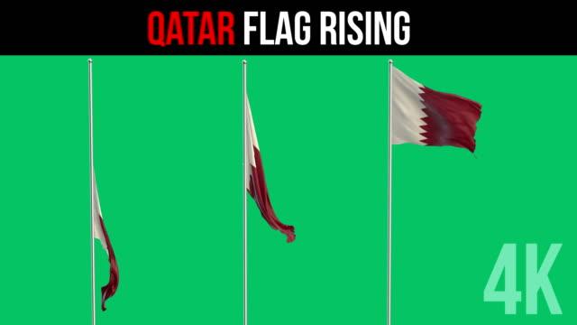 qatari flag - qatar stock videos & royalty-free footage