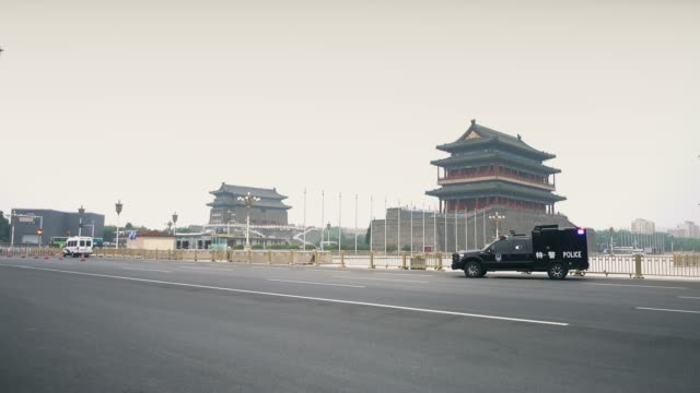 qianmen,nearby tiananmen square,beijing,china. - tiananmen square stock videos & royalty-free footage