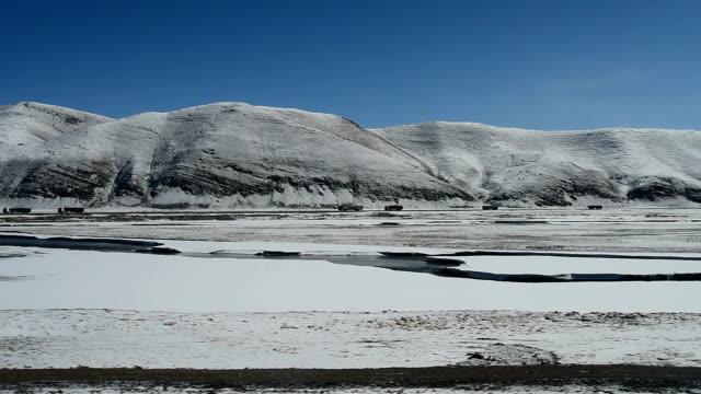 qinghai-tibet plateau in china 08 - tibetan plateau stock videos & royalty-free footage