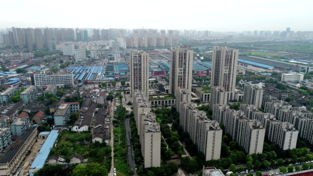 qingqing bridge ancient canal scenic area, new commercial housing construction site - wuxi stock videos and b-roll footage