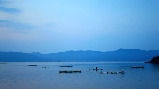 qingshitan lake - distant stock videos & royalty-free footage