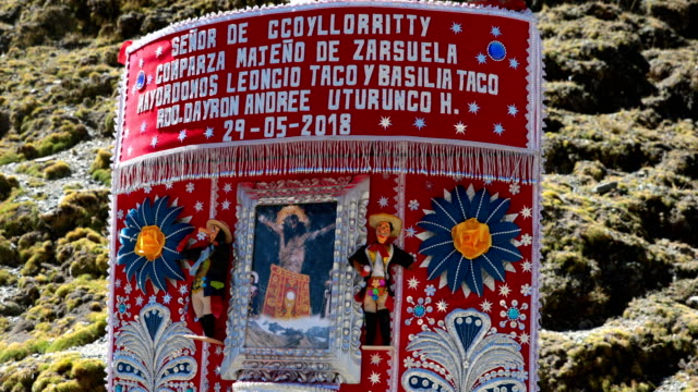 qoyllur rit'i festival on may 27, 2018 in ocongate, peru. every year, since 1783 in the sinakara valley at the foot of mt ausagante, the qoyllur... - religious celebration stock videos & royalty-free footage