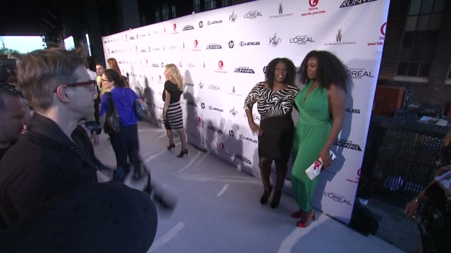 qristyl frazier and guest at project runway 10th anniversary party at highline on july 17 2012 in new york new york - project runway stock videos and b-roll footage