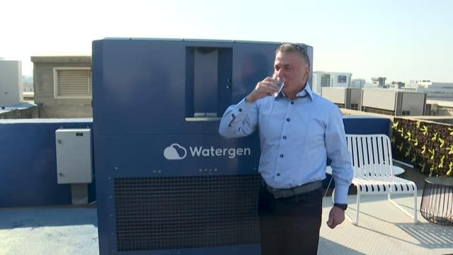 qué hace la empresa de un millonario ruso-israelí en gaza, un territorio controlado por los islamistas de hamas? transforma el aire en agua potable... - agua stock videos & royalty-free footage