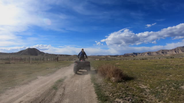 quadbike, desert, all terrain vehicle, atv - quadbike stock videos & royalty-free footage