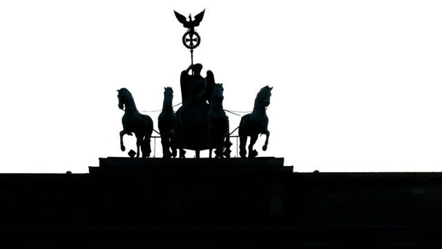 Quadriga On The Brandenburger Tor Tilt Up
