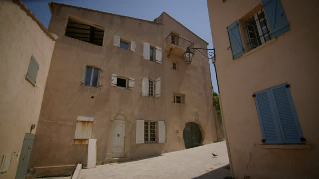 quaint houses on the french riviera - narrow stock videos & royalty-free footage