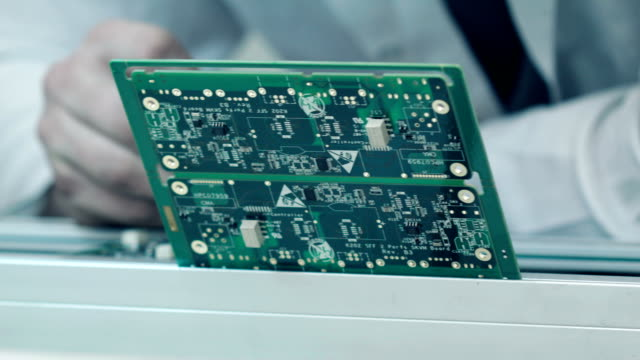 quality control of smd - circuit board stock videos & royalty-free footage