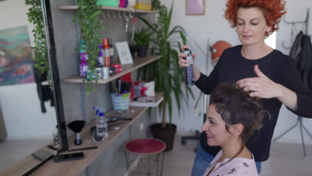 quality products for a professional finish - hair spray stock videos & royalty-free footage