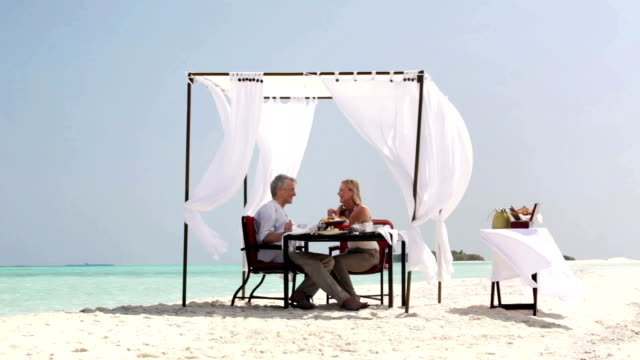 stockvideo's en b-roll-footage met quality time in an idyllic setting - gazebo