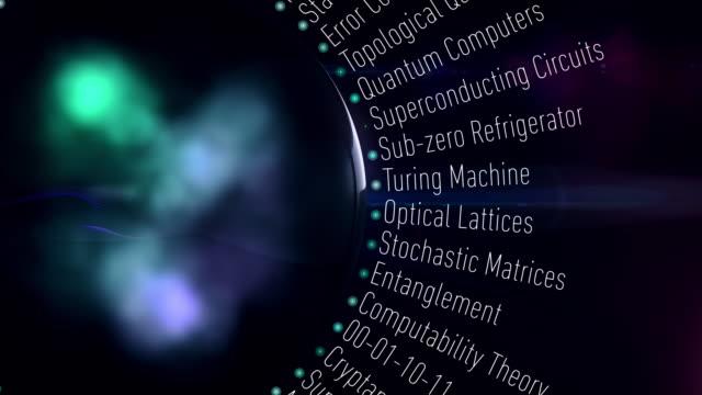 quanten-computer-terminologie - computeranlage stock-videos und b-roll-filmmaterial