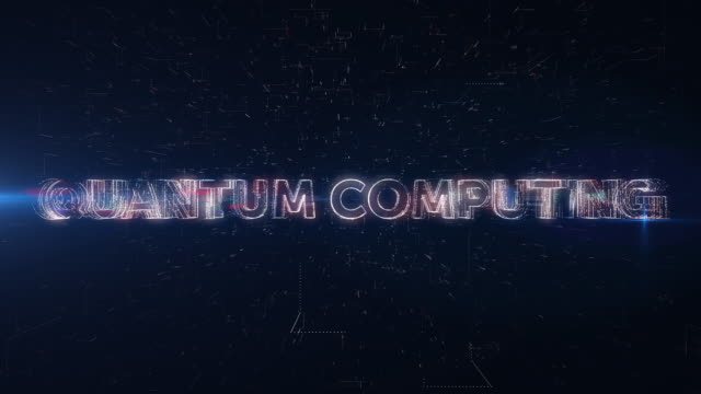 quantum computing word animation - quantum computing stock videos and b-roll footage