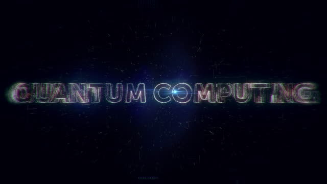 Quantum Computing word animation