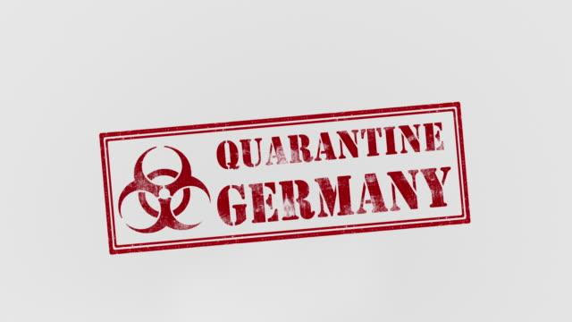 quarantine germany - deutschland stock videos & royalty-free footage