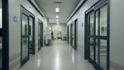 Quarantined hospital corridor for COVID-19