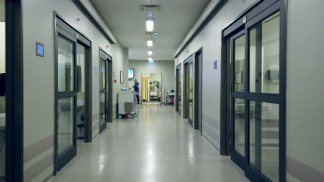quarantined hospital corridor for covid-19 - coronavirus stock videos & royalty-free footage