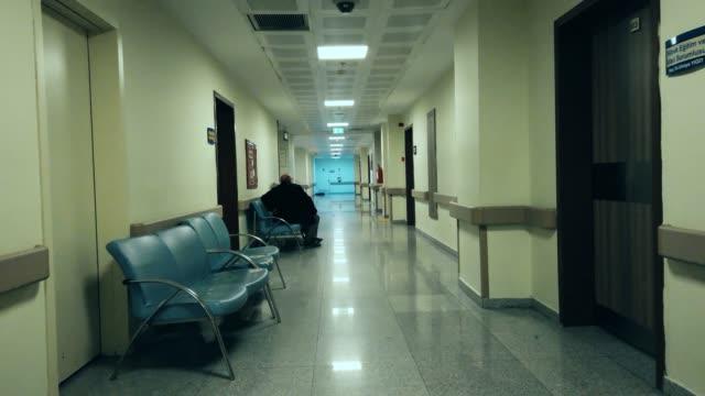 quarantined hospital corridor for covid-19 - virus zika video stock e b–roll