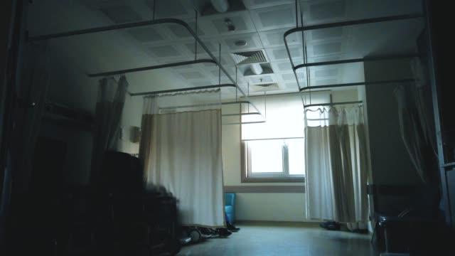 quarantined hospital corridor for covid-19 - larynx stock videos & royalty-free footage