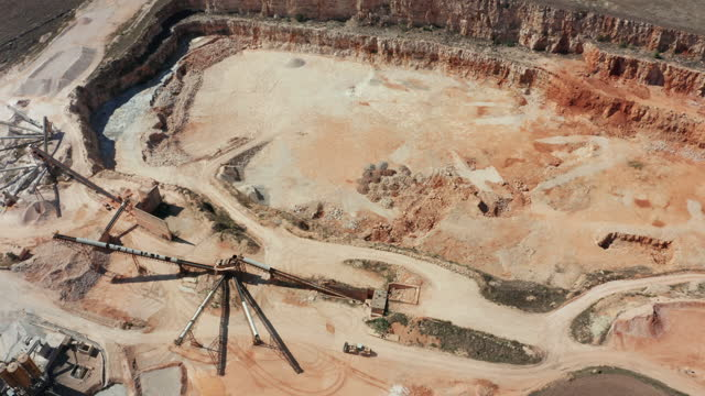 quarry as seen from above - quarry stock videos & royalty-free footage