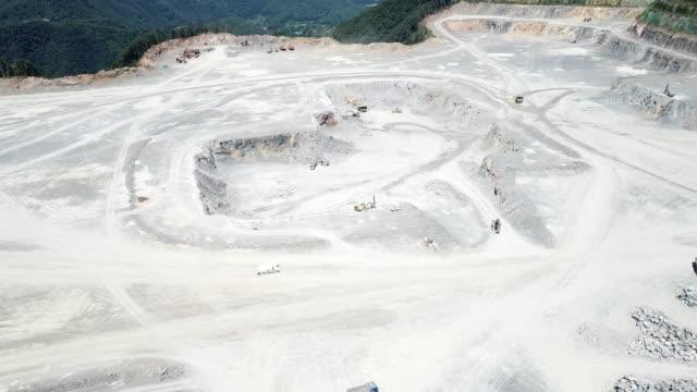 quarry in baegeorisan mountain / yeongwol-gun, gangwon-do, south korea - destruction stock videos & royalty-free footage