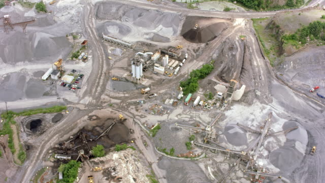 aerial quarry in nj - dump truck stock videos and b-roll footage