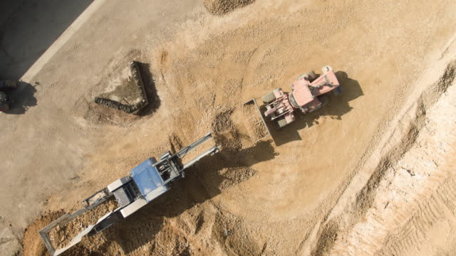 quarry site construction - crane construction machinery stock videos & royalty-free footage