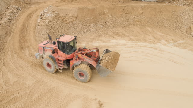 quarry site digger - mining stock videos & royalty-free footage