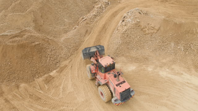 quarry site digger - excavator stock videos and b-roll footage