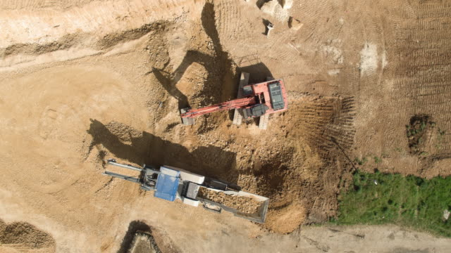 quarry site - crane construction machinery stock videos & royalty-free footage