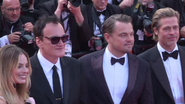 a quarter century after nabbing the coveted palme d'or at cannes for pulp fiction quentin tarantino is back at the world's top film festival to show... - 72nd international cannes film festival stock videos and b-roll footage