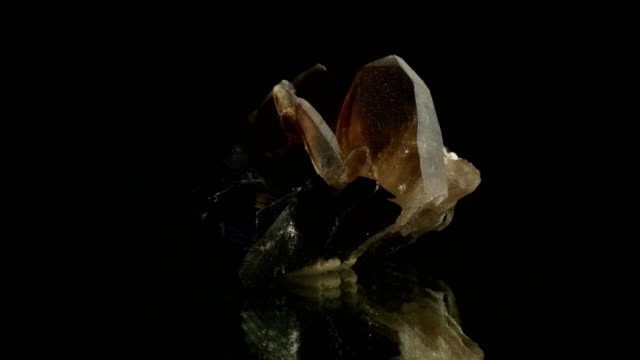 quartz crystal turning black - stone object stock videos and b-roll footage