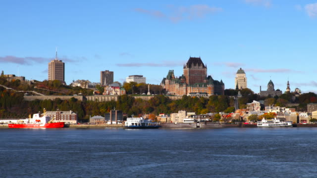 Quebec City along the St Lawrence River