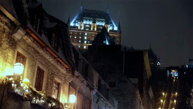 quebec city and chateau frontenac at christmas time - other stock videos and b-roll footage