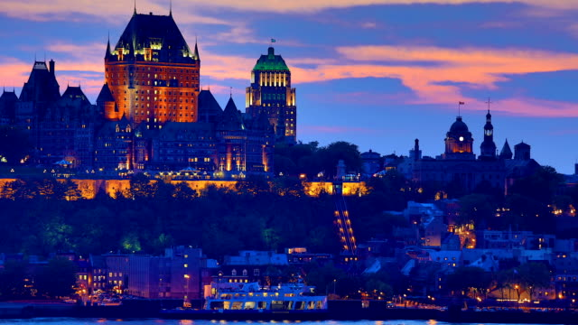 quebec city time-lapse - quebec stock videos and b-roll footage