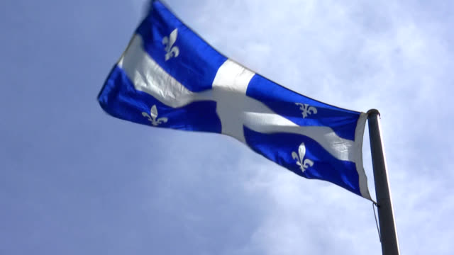 quebec flag - flag stock videos & royalty-free footage