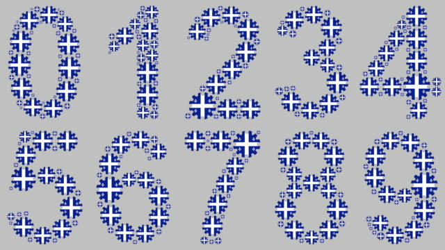 quebec numbers set - quebec flag stock videos & royalty-free footage