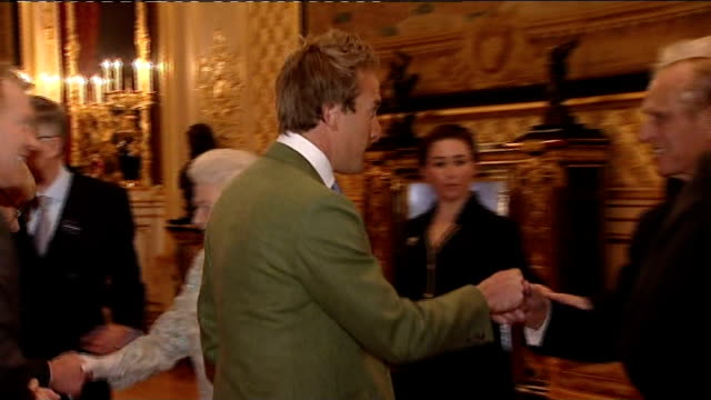 queen and prince philip attend the british rural communities reception at windsor castle england berkshire windsor castle photography ** clarissa... - clarissa dickson wright stock videos & royalty-free footage