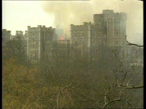 queen and prince philip collection 1 t20119201 windsor castle fire - windsor england stock videos and b-roll footage