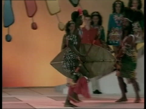 queen and prince philip collection 4 t02030203 jubilee tour australia aboriginal dancers at opening ceremony of commonwealth heads of govt meeting uk... - collection stock videos and b-roll footage