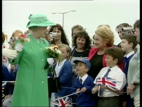 Queen and Prince Philip Collection 4 T12070105 Channel Islands Visit Queen arrival in Guernsey helicopter landing in Alderney Winer i/c Queen with...