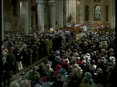 Queen and Prince Philip Collection 4 T15050211 Jubilee tour Northern Ireland at multifaith service in St Anne's Cathedral Belfast at agricultural...