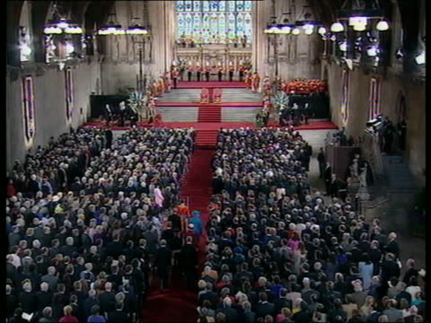 queen and prince philip collection 4 t30040204 jubilee address to parliament in westminster hall - collection stock videos and b-roll footage