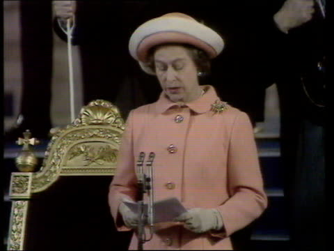 queen and prince philip collection 7 t04057701 london westminster hall queen elizabeth ii making speech - queen elizabeth hall stock videos and b-roll footage