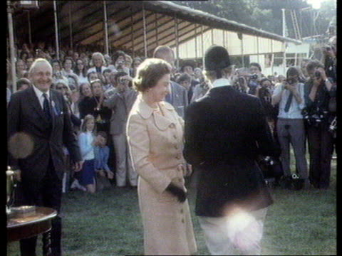queen and prince philip collection 7 t05097104 5971 princess anne wins european horse trial championships lincolnshire burghley princess anne walks... - cheek to cheek stock videos & royalty-free footage